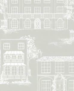 Little Greene Hampstead Cool Grey Wallpaper
