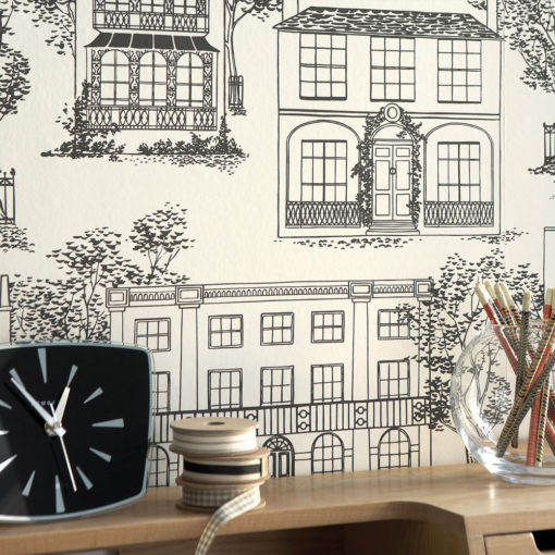 Little Greene Hampstead Ink Wallpaper