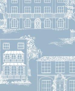 Little Greene Hampstead James Blue Wallpaper