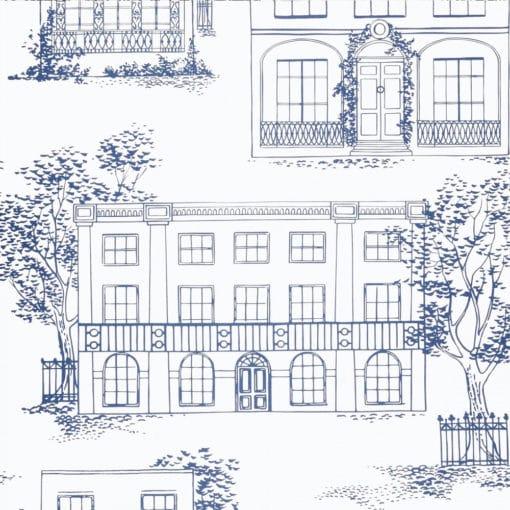 Little Greene Hampstead Mid Blue Wallpaper