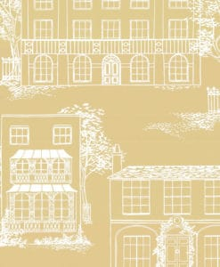 Little Greene Hampstead Yellow Apple Wallpaper