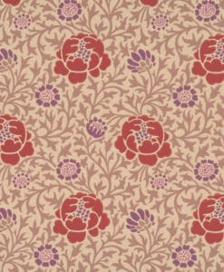 Little Greene Lansdowne Walk Plum Wallpaper