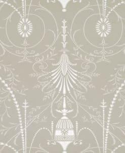 Little Greene Marlborough Paris Grey Wallpaper