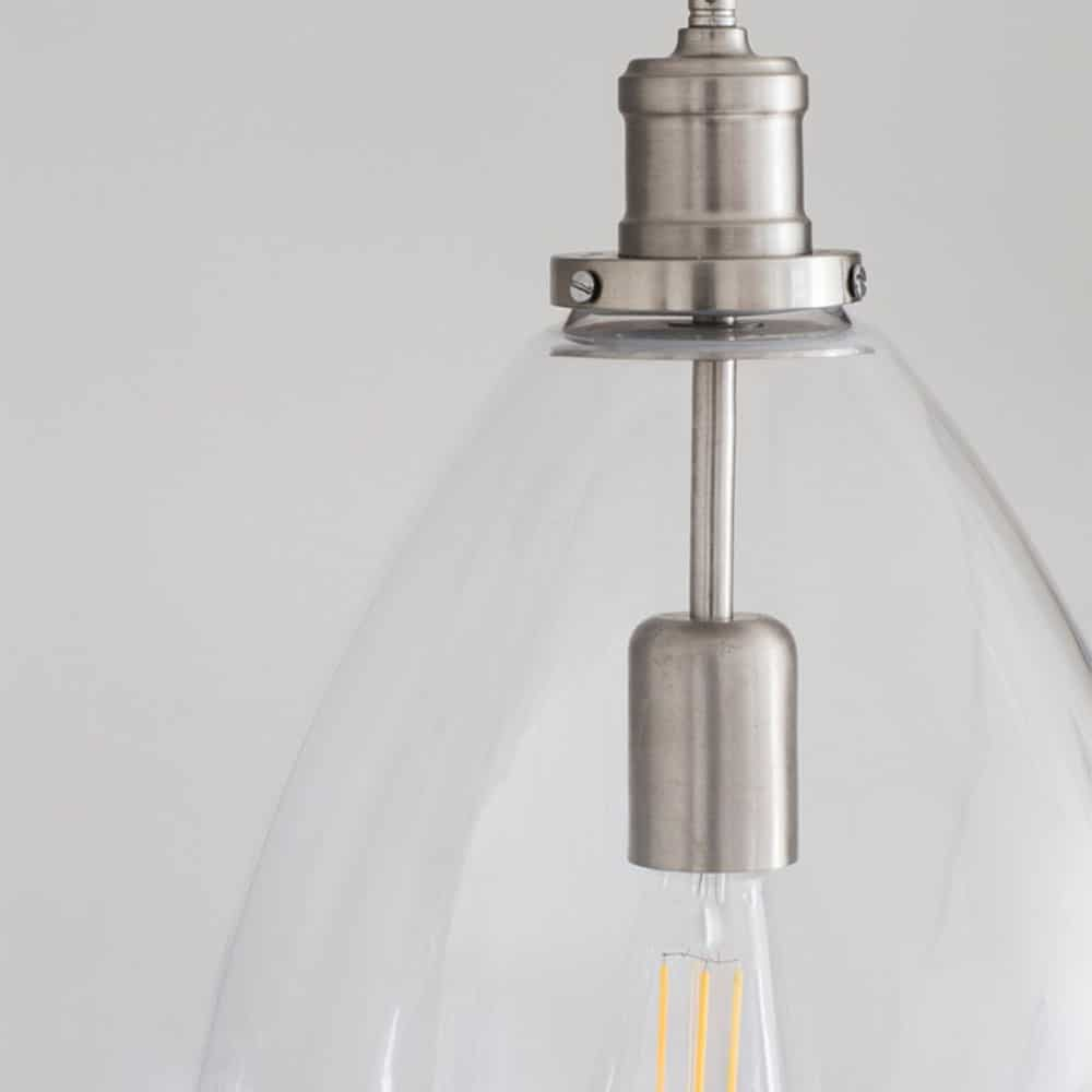 release date 04997 39ad7 Hoxton Bullet Glass Pendant Light - Buy Online At Period Home Style