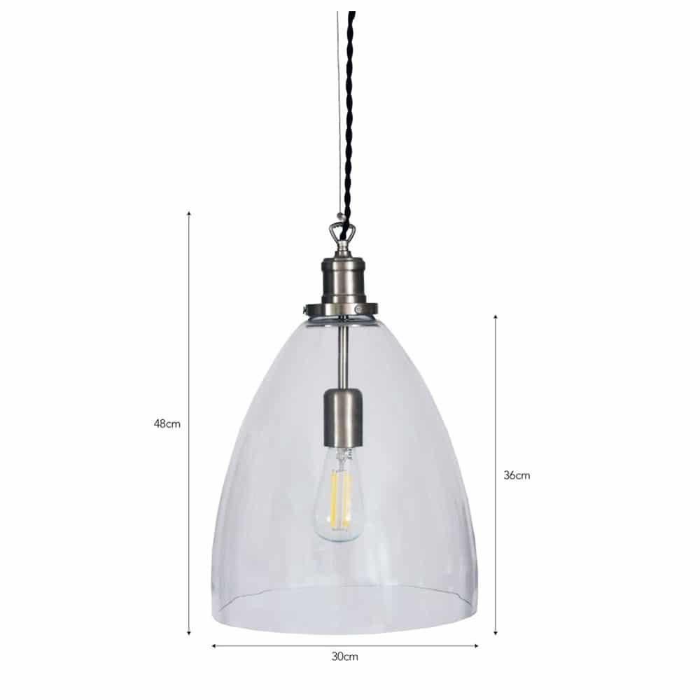 Hoxton Bullet Glass Pendant Light