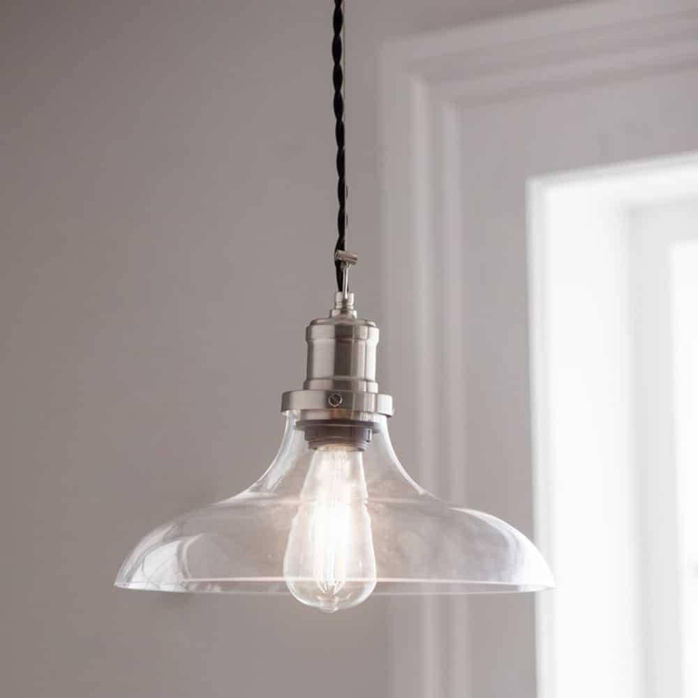 Buy Lighting Online: Hoxton Large Glass Pendant Light