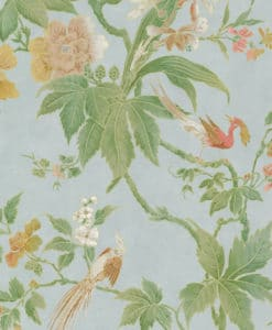 Little Greene Paradise Blue Wallpaper
