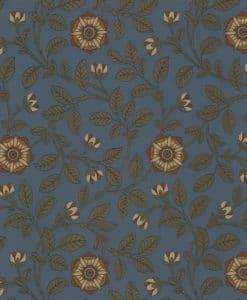 Little Greene Richmond Green Revival Blue Wallpaper