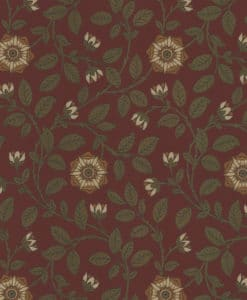Little Greene Richmond Green Revival Red Wallpaper
