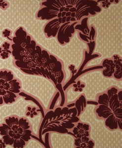 Little Greene Soho Square Red Flock Wallpaper