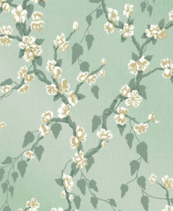 Little Greene Sakura Aqua Lustre Wallpaper