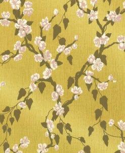 Little Greene Sakura Yellow Lustre Wallpaper