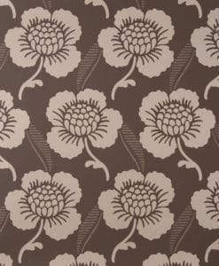Little Greene St James's Place Chocolate Wallpaper