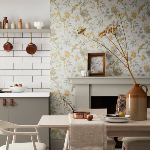 Little Greene Brooke House Cinder Wallpaper
