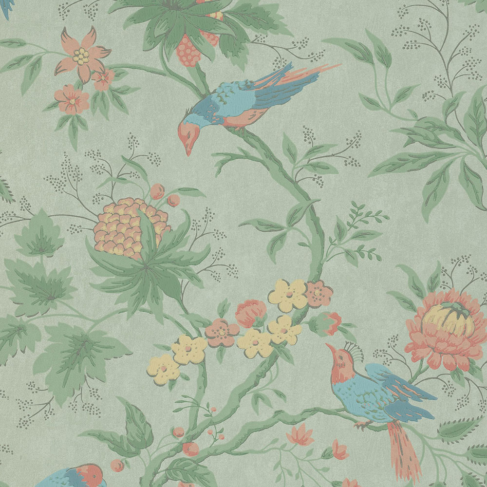 Little Greene Brooke House Silk Wallpaper Period Home Style