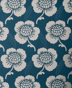Little Greene St James's Place Deep Blue Wallpaper