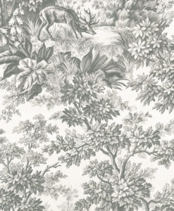 Little Greene Stag Toile Moss Wallpaper