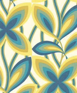 Little Greene Starflower Peacock Wallpaper