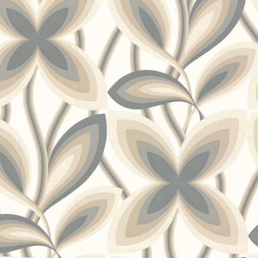 Little Greene Starflower Platinum Wallpaper
