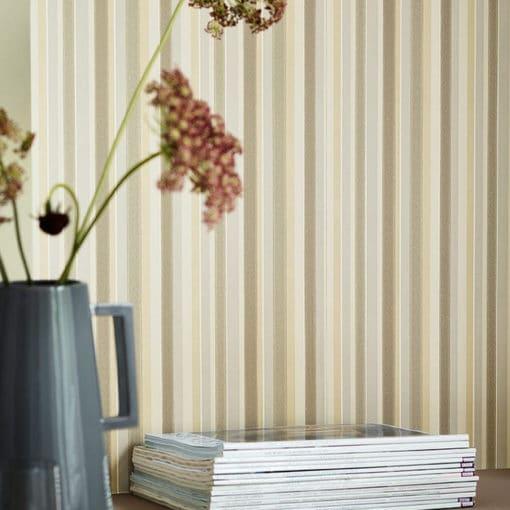 Little Greene Tailor Stripe Taupe Wallpaper