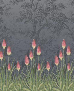 Little Greene Upper Brook Street Minuit Wallpaper