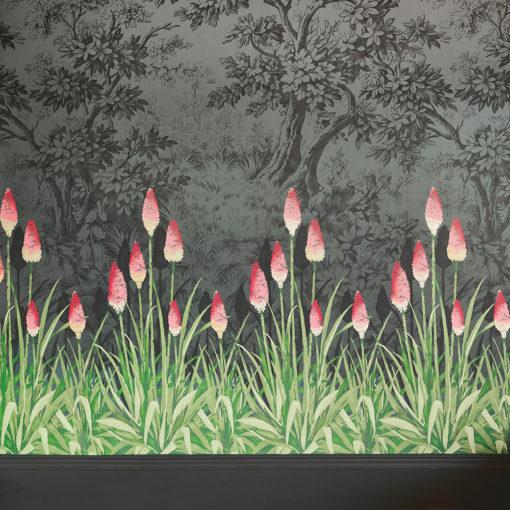 Little Greene Upper Brook Street Minuit Wallpaper