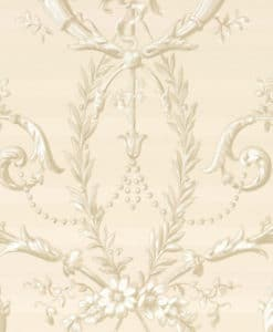 Little Greene Versailles Dark Pearl Wallpaper