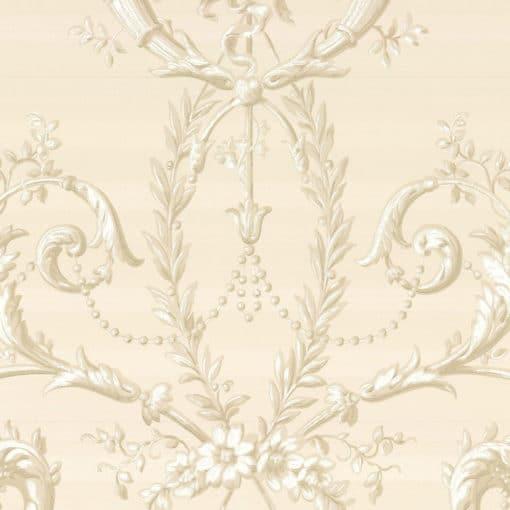 Little Greene Versailles Dark Pearl Wallpaper