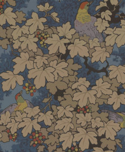 Little Greene Vine Bleu Wallpaper