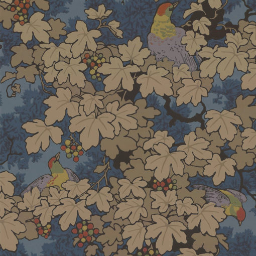Little Greene Vine Bleu Wallpaper