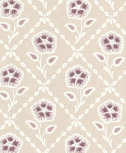 Little Greene Whitehall Cassis Wallpaper