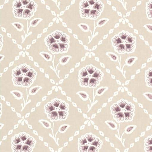 Little Greene Whitehall Cassis Wallpaper