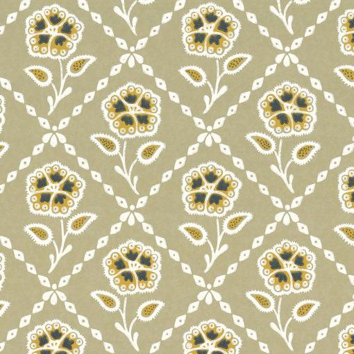 Little Greene Whitehall Moutarde Wallpaper