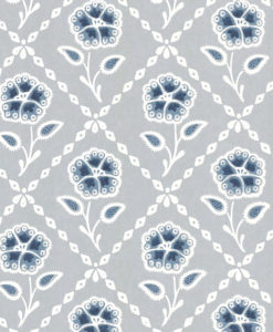 Little Greene Whitehall Prussian Wallpaper