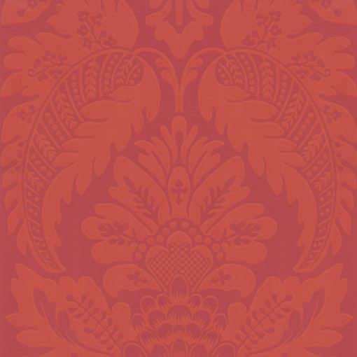 Little Greene Wilton Library Red Wallpaper