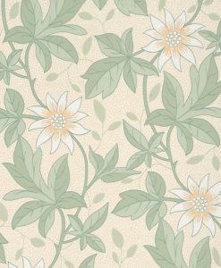 Little Greene Monroe Gold Flower Wallpaper