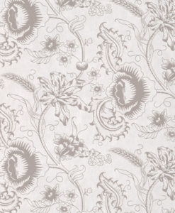 Little Greene Woodblock Mono Dolphin Wallpaper