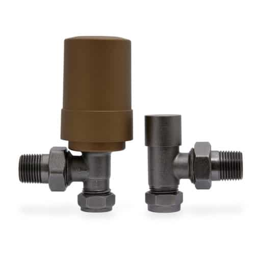 Genius Smart Valve With Natural Pewter Angled Body