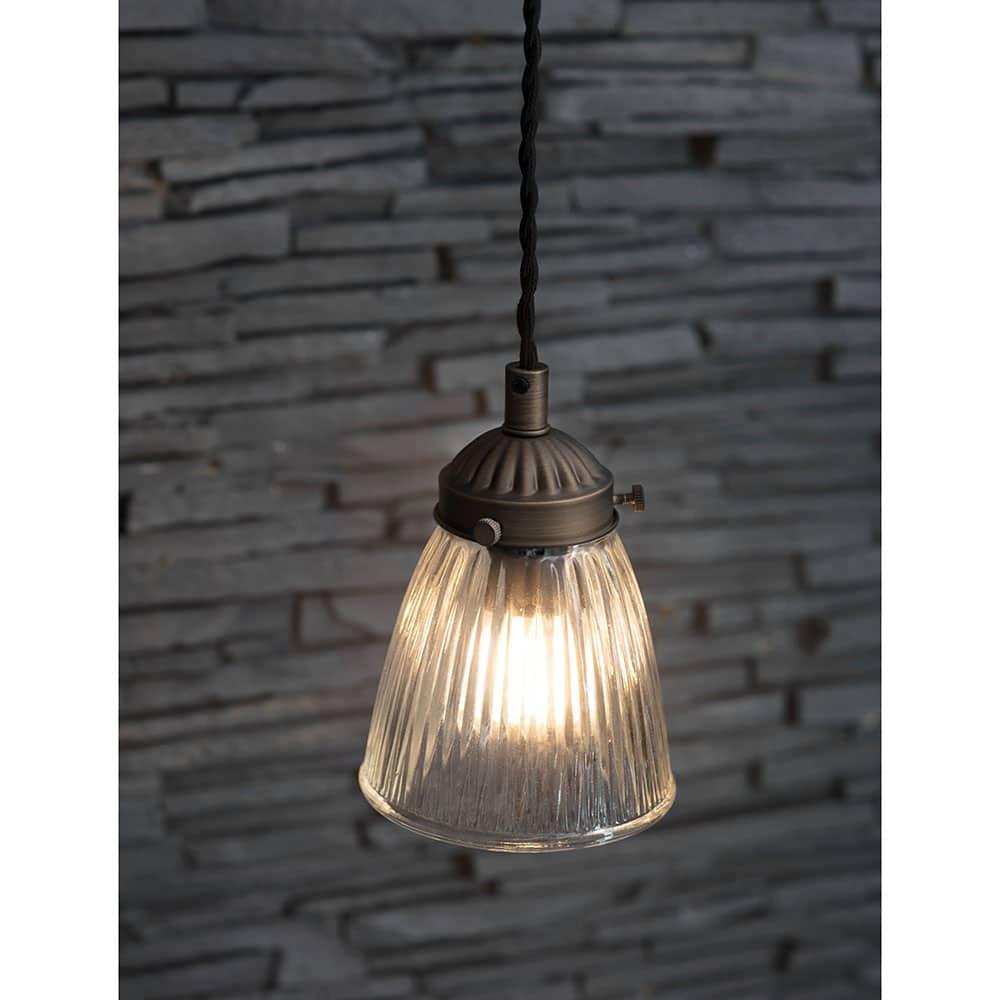 Petit Paris Glass Pendant Light For Sale: Single Paris Ceiling Light (2 Finish Options) For Sale