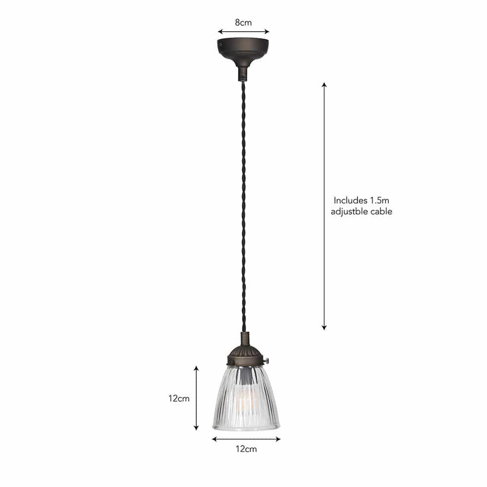 Single Paris Ceiling Light (2 Finish Options) For Sale