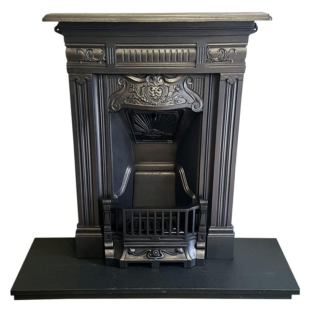 Antique Vintage Bedroom Fireplace: Bedroom Cast Iron Antique Fireplace (BED197)