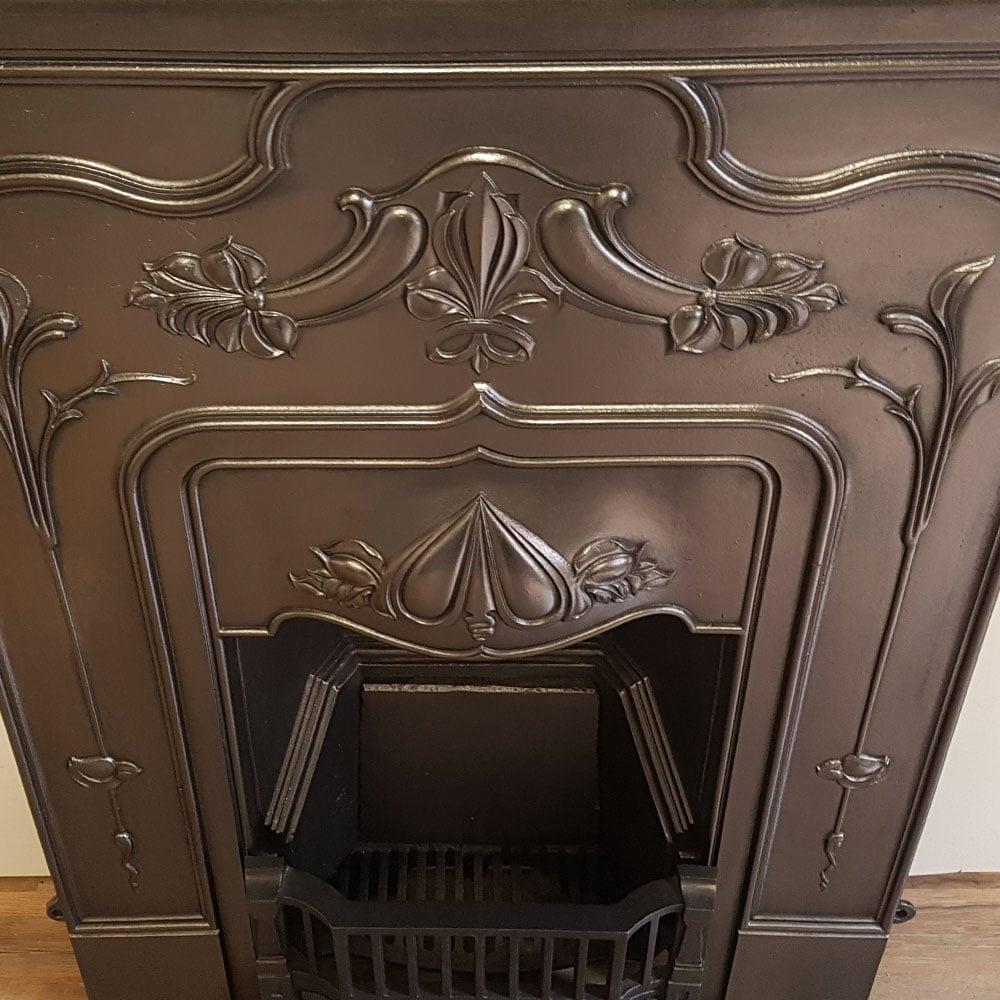 Antique Vintage Bedroom Fireplace: Antique Cast Iron Bedroom Fireplace For Sale