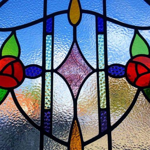 SG160 - 1930s Art Nouveau Stained Glass Design - Closeup