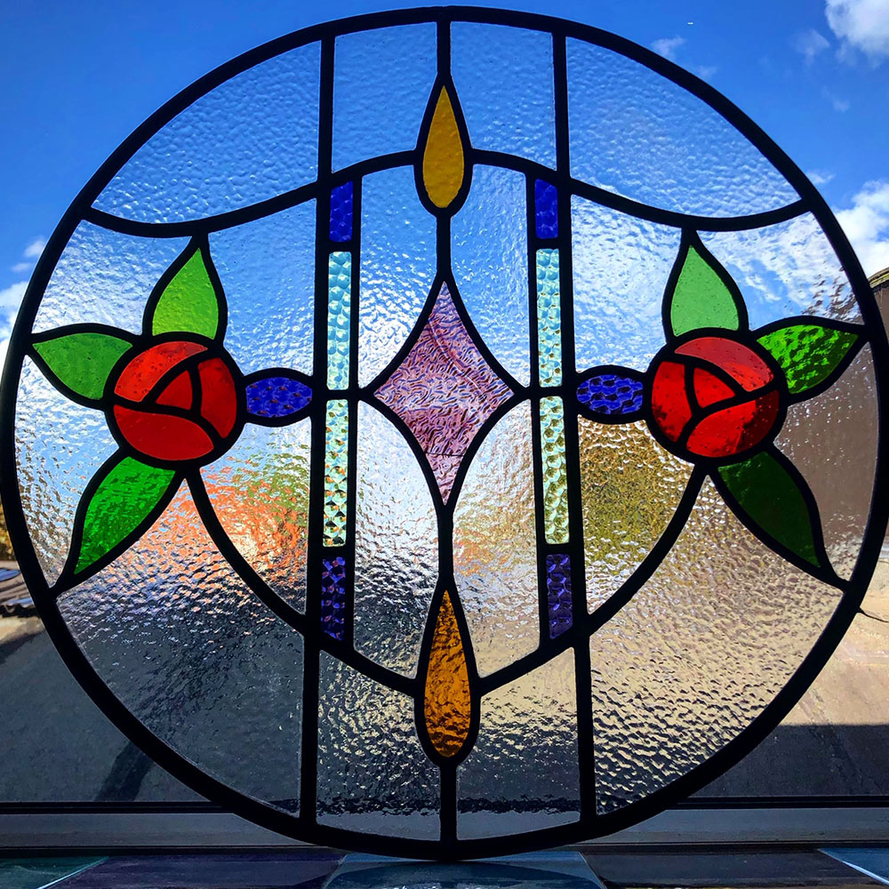 Bespoke 1930s Art Nouveau Stained Glass Design Period