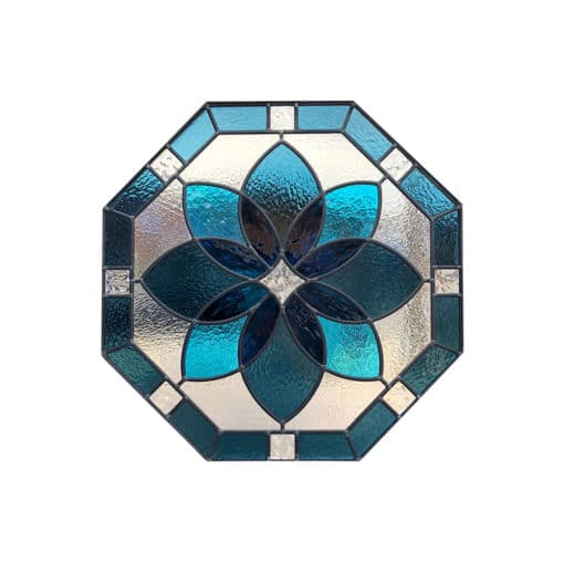 SG159 - 1930s Octagon Stained Glass Panel
